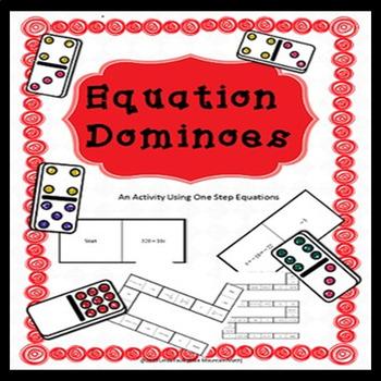 One Step Equation Domino Set