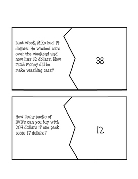 One Step Equation Puzzles