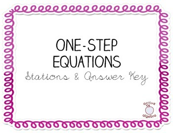 One-Step Equation Stations