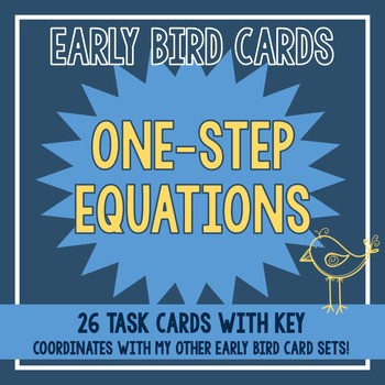 One-Step Equation Task Cards