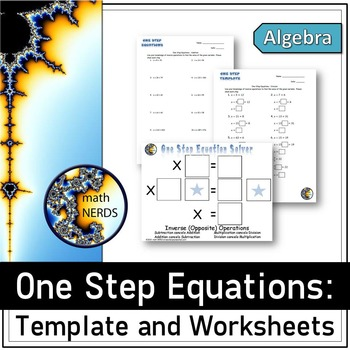 One Step Equation Template