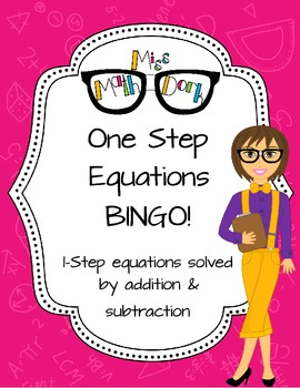 One-Step Equation (addition and subtraction of whole numbe