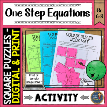 One Step Equations Digital Interactive Square Puzzles Goog