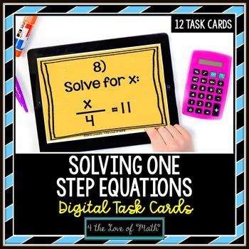 One Step Equations: Digital Task Cards