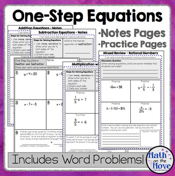 One-Step Equations (with Rational Numbers) - Interactive N