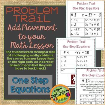 One Step Equations Problem Trail