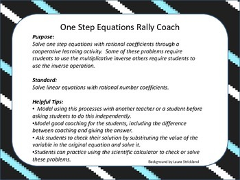 One Step Equations Rally Coach