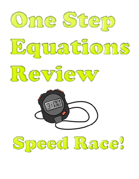 One Step Equations Review Speed Race