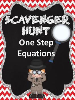 One-Step Equations Scavenger Hunt!