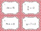 One Step Equations Task Cards Volume 2