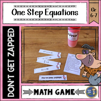 One Step Equations ZAP Math Game