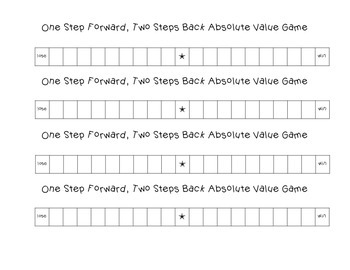 One Step Forward, Two Steps Back Absolute Value Game