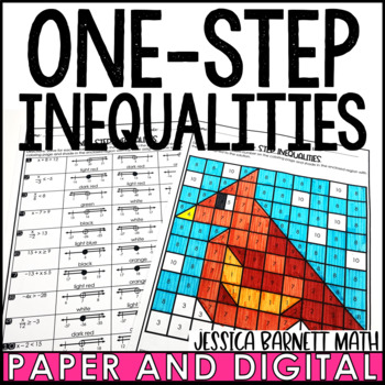 One-Step Inequalities Valentines Day Coloring Page