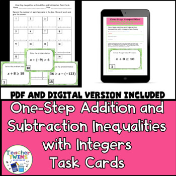 One-Step Inequalities with Addition and Subtraction Task C