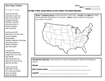 One Way Ticket: Using Poetry to Analyze The Great Migration