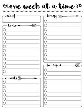 One Week at a Time {Teacher To-Do List FREEBIE}