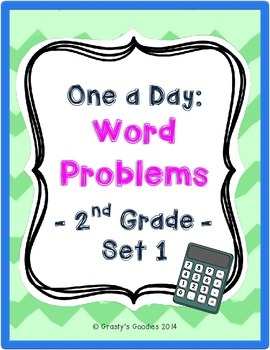 One a Day: Word Problems for 2nd Grade (Set 1 - Common Core)
