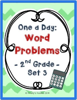One a Day: Word Problems for 2nd Grade (Set 3 - Common Core)