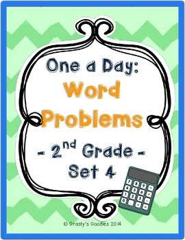 One a Day: Word Problems for 2nd Grade (Set 4 - Common Core)