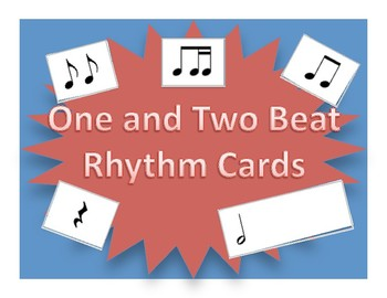 One and Two Beat Rhythm Flash Cards