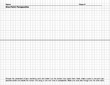 One and Two Point Perspective Drawing Worksheet