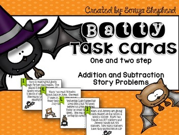 One and Two Step Addition and Subtraction Task Card Set