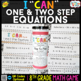 8th Grade One and Two Step Equations Game - 8th Grade Math Game