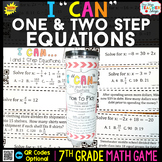 7th Grade One and Two Step Equations Game - 7th Grade Math Game