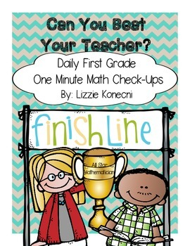 One minute daily math check-ups/ Can you beat your teacher