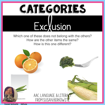 Category Exclusion Practice for Summer for Speech Therapy