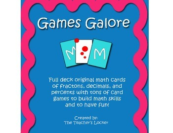 One of a Kind FULL DECK MATH CARDS with Game Instructions