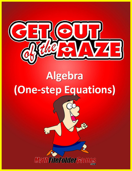 One-step Equations Fun Worksheets/Mazes