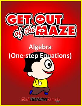 One-step Equations - Algebra  Mazes/Worksheets