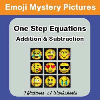 One-Step Equations (Addition & Subtraction) EMOJI Mystery