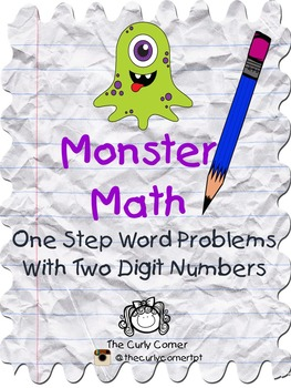 One step word problems with two digit numbers