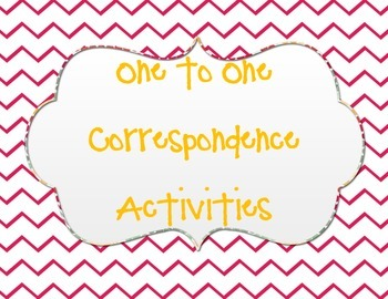 One to One Correspondence Activity Cards I see the _______.