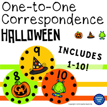 One-to-One Correspondence Halloween