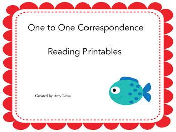 One to One Correspondence Reading Printables