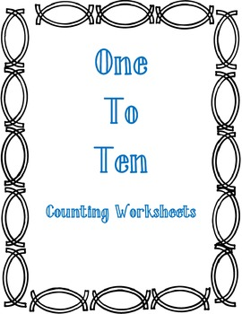 One to Ten Counting Worksheet Bundle