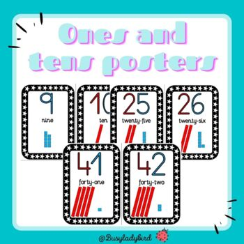 Ones and tens posters