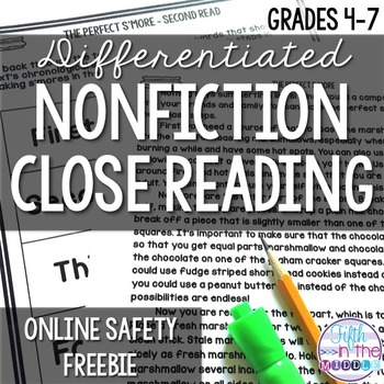 FREE Online Safety Close Reading