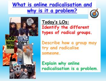 Online radicalisation and extremism (1hr PP worksheet and