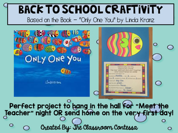 Only One You - Back To School Craftivity and Writing