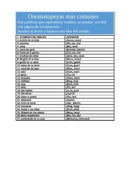 Onomatopeyas en espanol