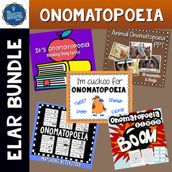 Onomatopoeia Activities Bundle
