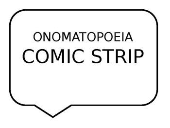 Onomatopoeia Comic Strip Activity