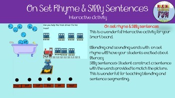 Onset Rhyme Silly sentences