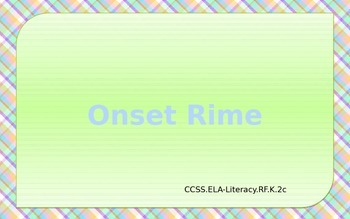 Onset Rime