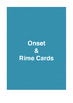 Onset & Rime Cards