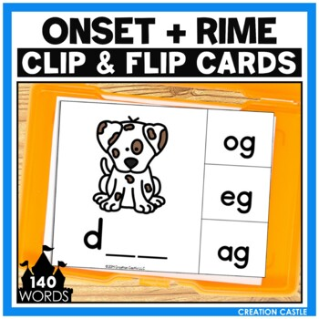 Onset and Rime CVC Clip Cards Center